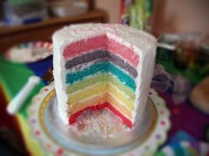Rainbow-Cake web